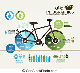 Modern Design bicycle template can be used for infographics...