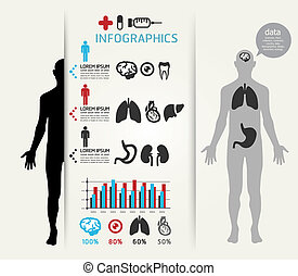 Medical Infographic Design template can be used for...