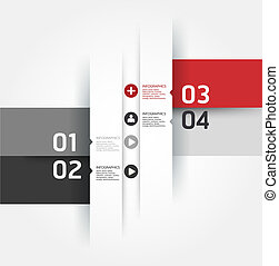 Modern Design template can be used for infographics numbered...