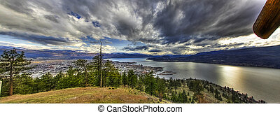 City of Kelowna Wide Angle Panorama