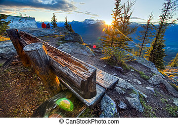 Bench on a Mountain Top