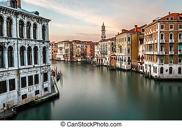 View on Grand Canal and Santi Apostoli Church from Rialto...