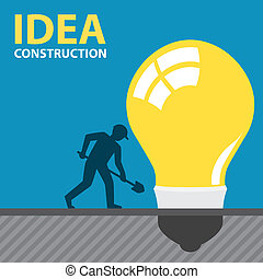 IDEA CONSTRUCTION - Light bulb under construction by...
