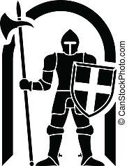 guardian. stencil. vector illustration