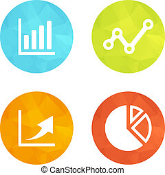 Set icons - Set of web icons or flat design elements Eps 10...