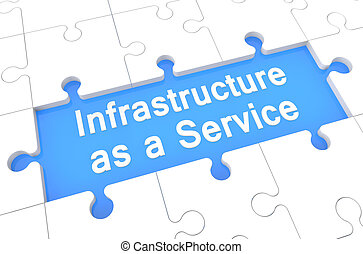 Infrastructure as a Service - puzzle 3d render illustration...