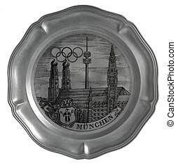 Panel Olympic Games in Munich 1972 - Wall plate devoted to...