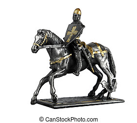 Statuette of El Cid - Figurine of Rodrigo Díaz de Vivar on a...