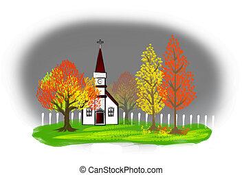 Autumn Illustration - an illustration of autumn landscape...