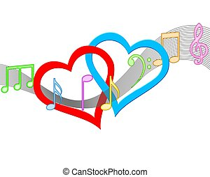 Musical Hearts Concept