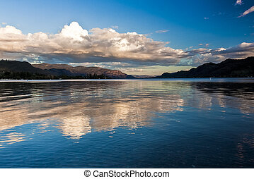 Scenic Mountain lake in Southern Okanagan Valley, British...