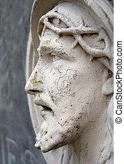 Bas-relief of Jesus Face - Bas-relief of Jesus profile on...