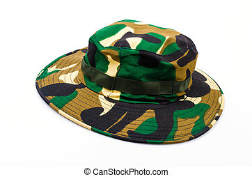 Army hat isolated white background