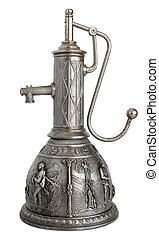 Pewter decanter with pump