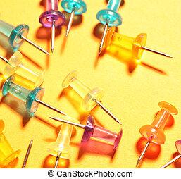 Push Pins - Close up of regular Push Pins