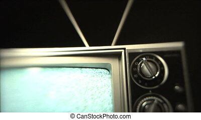Static TV - Older television playing static