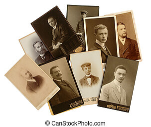 Antique photo of men - Old photos show portraits of men...