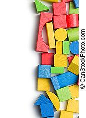 madeira, brinquedo, blocos