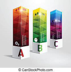 infographic template Modern box Design Minimal style / can be used for infographics / numbered banners / horizontal cutout lines / graphic or website layout vector