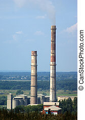 Smokestacks of Cement factory