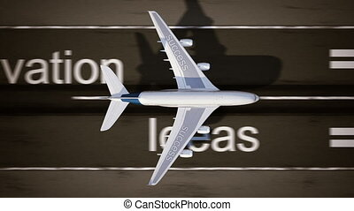 Concept of success - Airplane on the runway High quality...