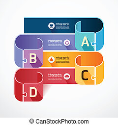 infographic Template jigsaw banner . concept vector...