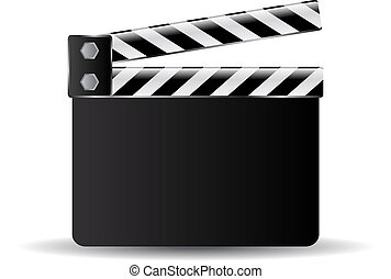 Clapper board - Clapperboard vector illustration