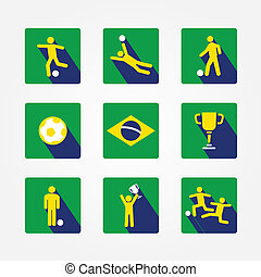 world soccer icons and apps Set design concept. Icons for...