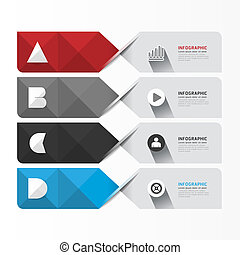 Modern Geometric Infographics Design template can be used...