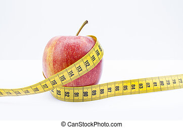 Apple and Measuringtape