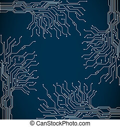 Abstract background of digital technologies - Vector...