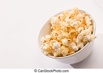 popcorn - food series: macro picture of popcorn on the bowl