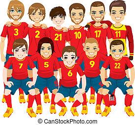 Red Soccer Team