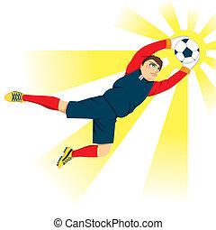 Goal Keeper Catching Ball