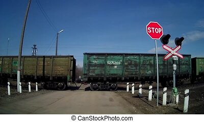 FullHD video of freight train