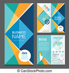 Business brochure modern design template.vector