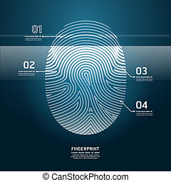 Fingerprint Scan vector illustration