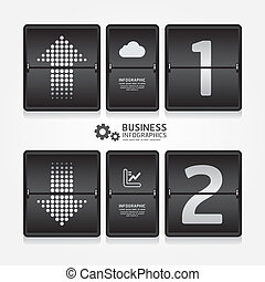 business travel infographic airport timetable design style / can be used for infographics / numbered banners / graphic or website layout vector