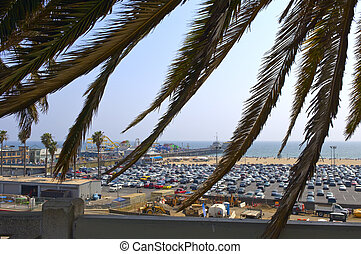 Santa Monica Pier - View from pacific palisades park at...