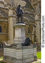 Cromwell - Monument to Oliver Cromwell by Westminster...