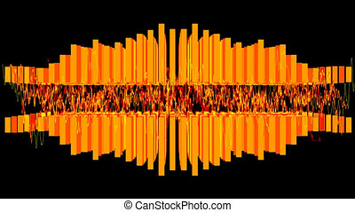 graphic equalizer - orange graphic equalizer and sound wave