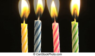 Birthday candles, time lapse