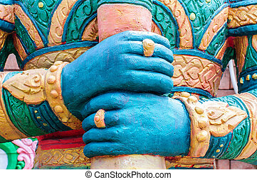 Hand of Giant statues