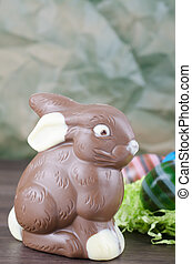 Chocolate bunny and Eastereggs