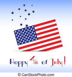 Greeting card to the American Independence Day