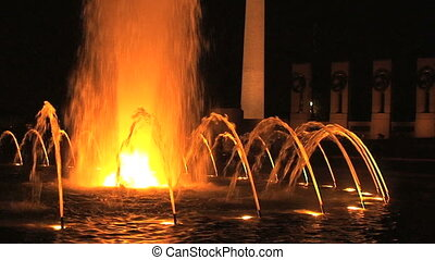 Fountain at WWII memorial - The fountain at the World War...