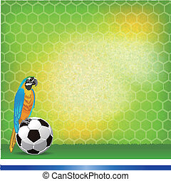 Brazil and Football background - World cup concept- Brazil...