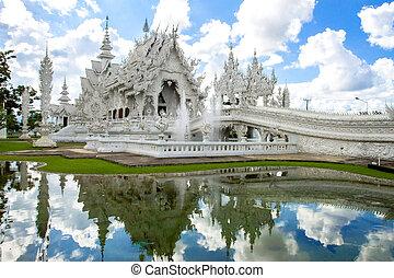 white church in Wat Rong Khun, Chiang Rai province