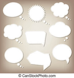 Abstract Speech Bubbles With Gradient Mesh, Vector...