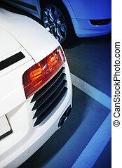 Sport car in undergraound parking